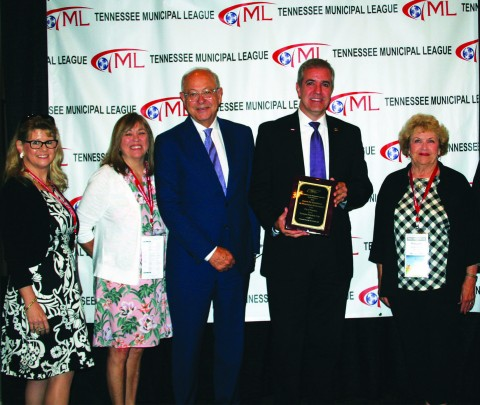 Franklin City with the TCMA Municipal Excellence Award